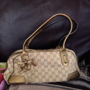 Authentic Gucci Monogram Canvas metallic